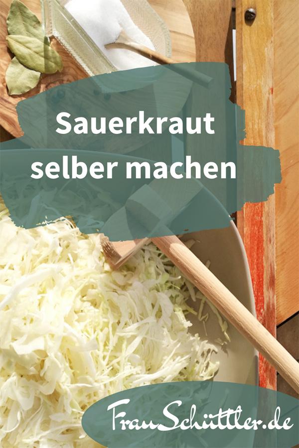 Sauerkraut selber machen - ganz einfach im Glas oder Gärtopf.