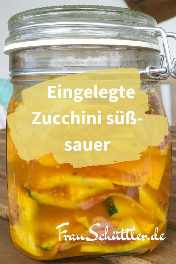 Eingelegte Zucchini süß-sauer